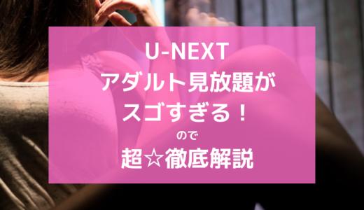 U-NEXT(ユーネクスト)アダルト動画がスゴイ!家族にバレずにAV見放題